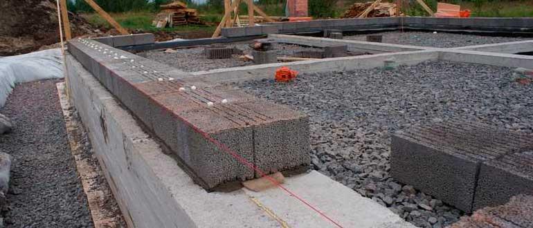 Фундаменты для стен из керамзитобетона пластификатор в цементном растворе