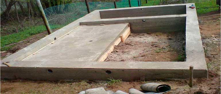 бетон под баню